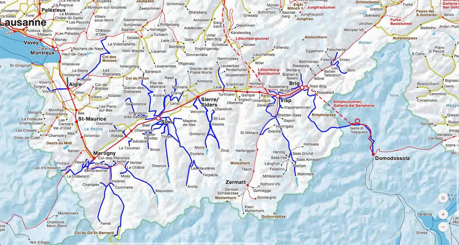 Carte des lignes